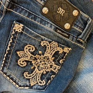 Miss Me Jeans Boot Cut Bling Studded Embroidered